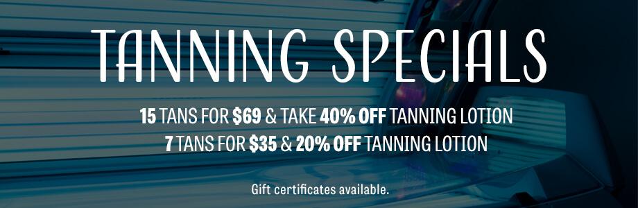 tanning specials